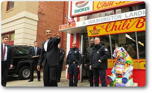 Obama leaves Bens Chili Bowl